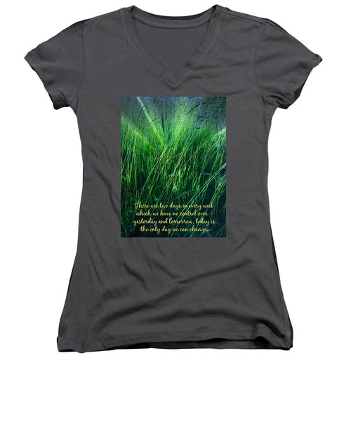 Yesterday And Tomorrow Women's V-Neck (Athletic Fit)