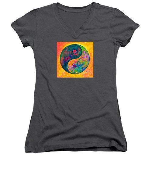 Yin Yang Flow Women's V-Neck