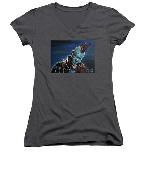 Yondu Women's V-Neck T-Shirt (Junior Cut) by Tom Carlton