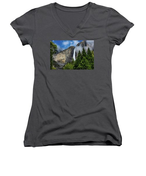 Yosemite Falls Women's V-Neck (Athletic Fit)