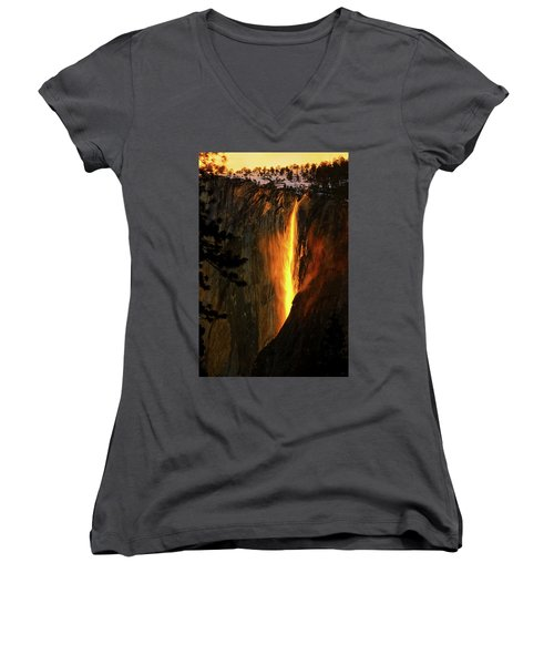 Yosemite Firefall Women's V-Neck