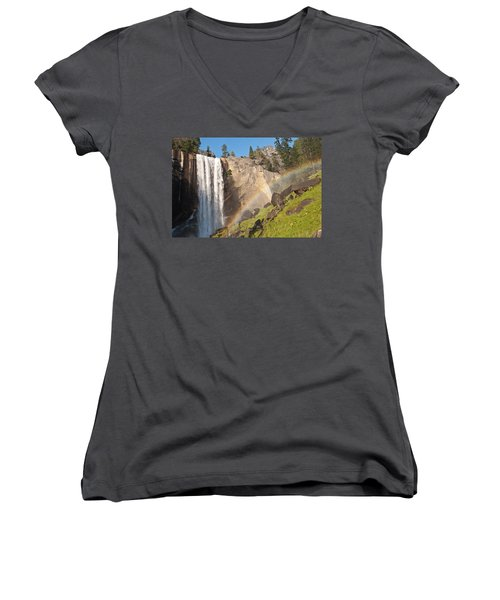Yosemite Mist Trail Rainbow Women's V-Neck