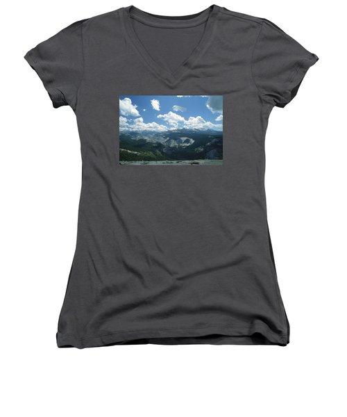 Yosemite Panoramic Women's V-Neck T-Shirt