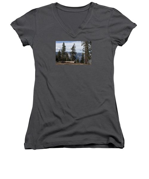 Women's V-Neck T-Shirt (Junior Cut) featuring the photograph Yosemite Park by Ivete Basso Photography