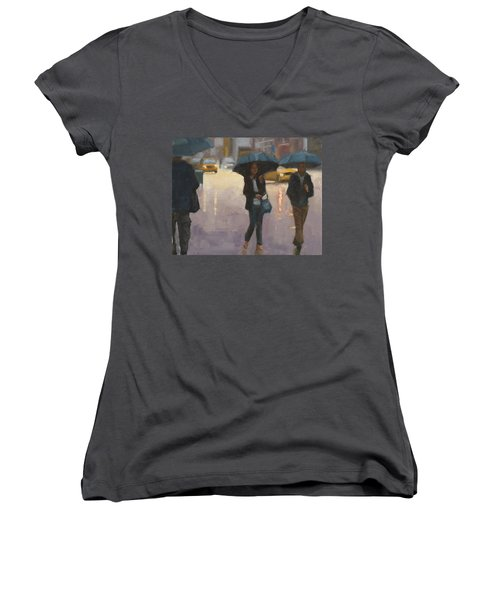 You And I And The Rain Women's V-Neck (Athletic Fit)