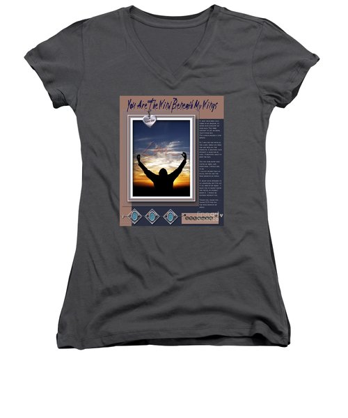 You Are The Wind Beneath My Wings Women's V-Neck (Athletic Fit)