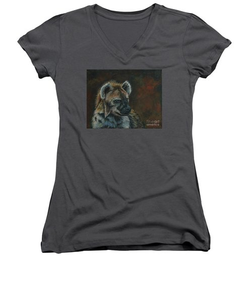 You Don't See Me Laughing......hyena Women's V-Neck (Athletic Fit)