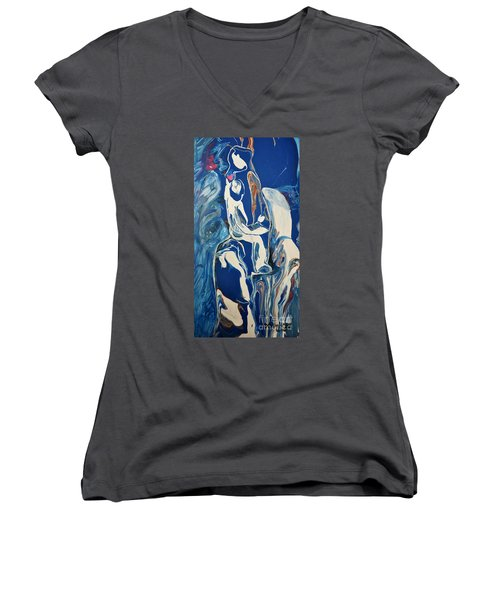 You Hold My Heart Women's V-Neck (Athletic Fit)