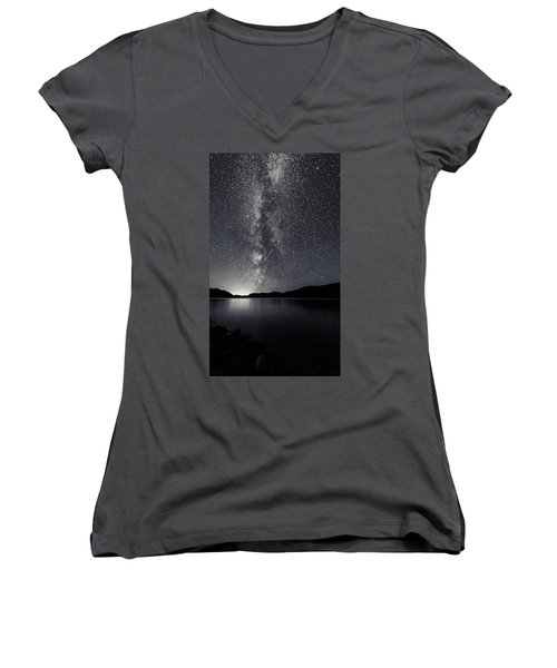 Women's V-Neck featuring the photograph You Know That You Are by Alex Lapidus