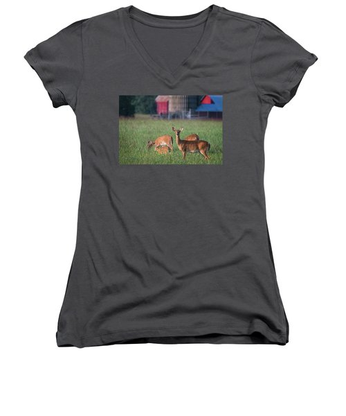 You Lookin' At Me? Women's V-Neck (Athletic Fit)