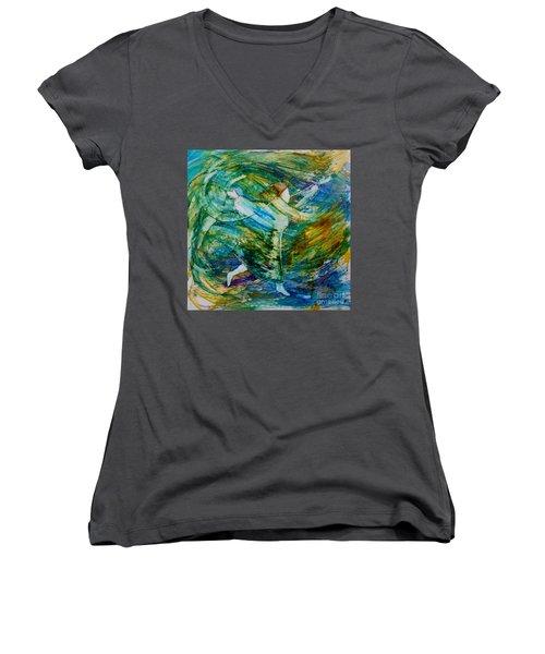You Make Me Brave Women's V-Neck T-Shirt