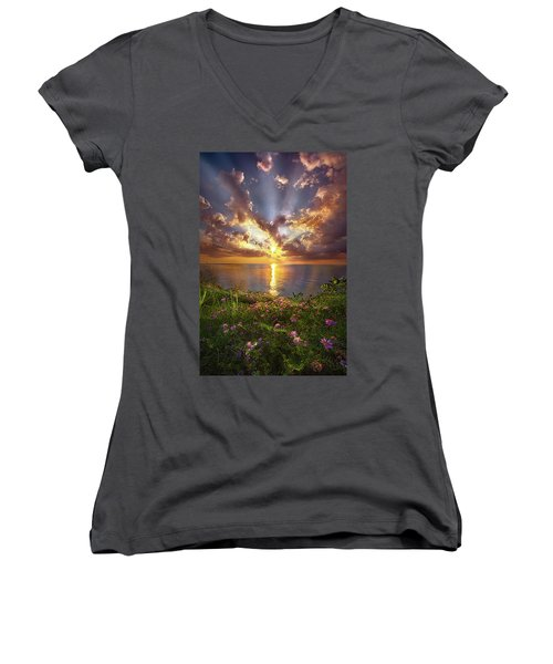 You Sing To My Spirit Women's V-Neck