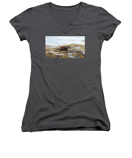 Young Otter Women's V-Neck
