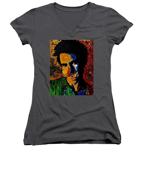 Young Sid Vicious Women's V-Neck