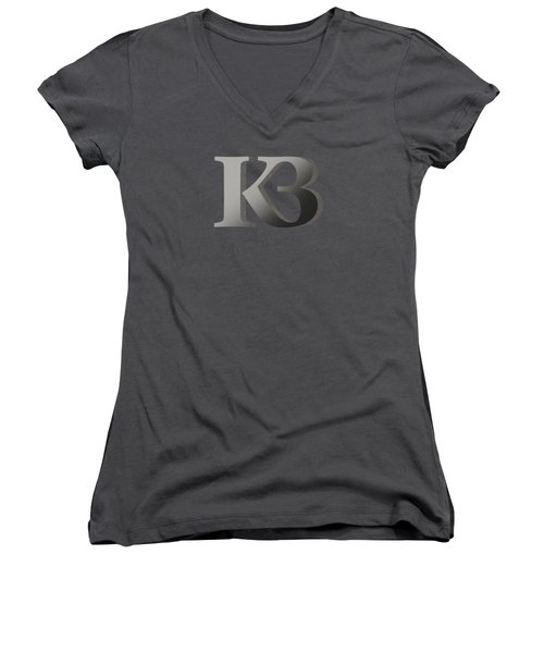 Your Name - K B Monogram 2 Women's V-Neck