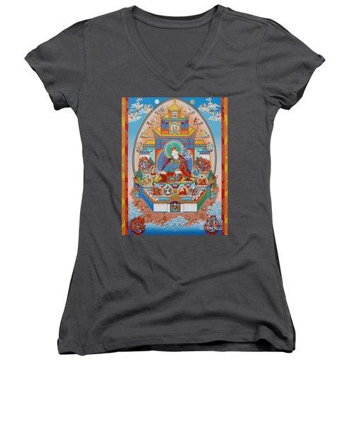 Zangdok Palri Women's V-Neck T-Shirt (Junior Cut) by Sergey Noskov
