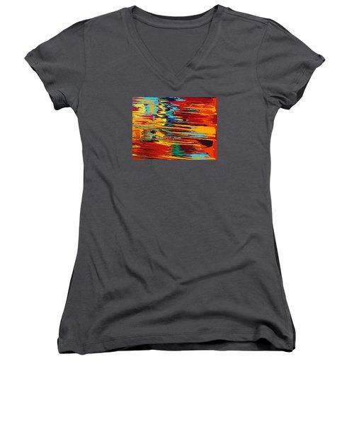 Zap Women's V-Neck T-Shirt (Junior Cut) by Ralph White