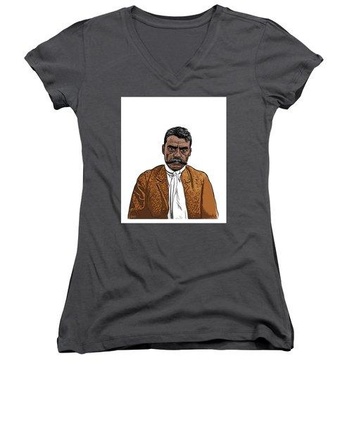 Zapata Women's V-Neck T-Shirt (Junior Cut) by Antonio Romero