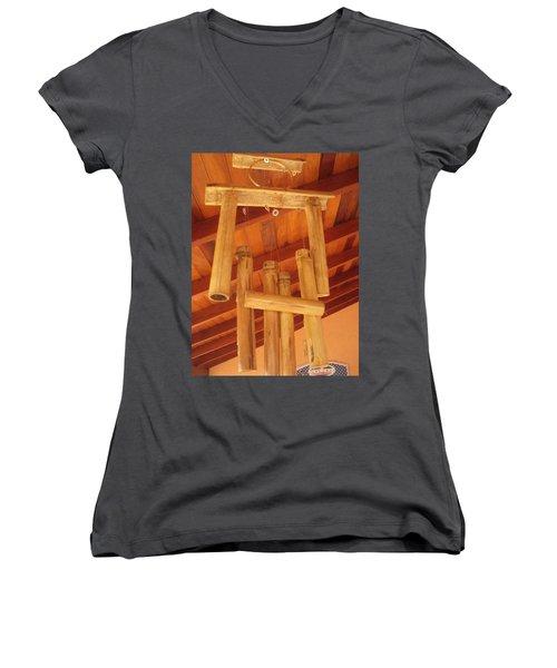 Zen By Myself Women's V-Neck T-Shirt (Junior Cut) by Beto Machado