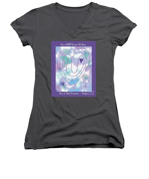 Zen Heart Labyrinth Pastel Women's V-Neck (Athletic Fit)