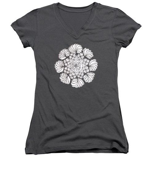 Zendala Joker's Wild Women's V-Neck T-Shirt (Junior Cut) by Lori Kingston