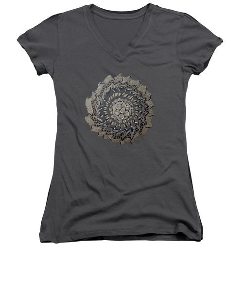Zentangle Shield  Women's V-Neck (Athletic Fit)
