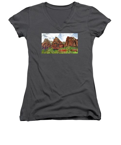 Zion N P # 41 - Court Of The Patriarchs Women's V-Neck