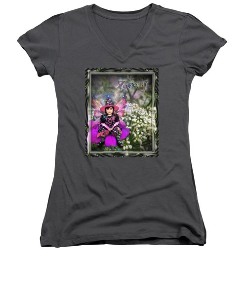 Zoey Women's V-Neck T-Shirt (Junior Cut)