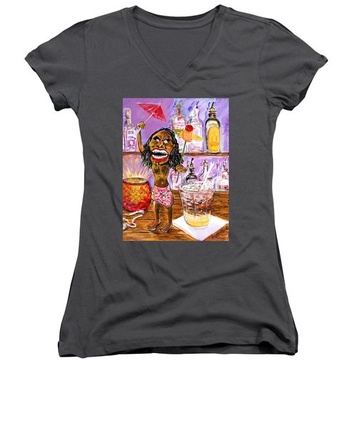 Zuni Mai Tai Women's V-Neck T-Shirt