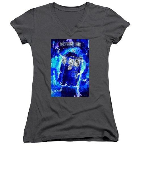 Doctor Who Tardis Women's V-Neck