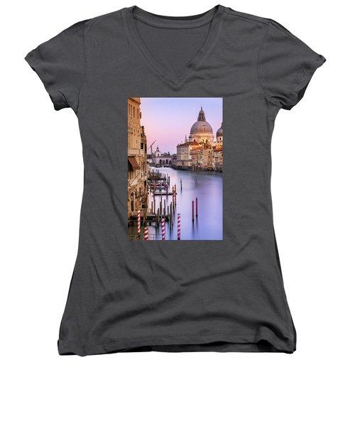 Evening Light In Venice Women's V-Neck