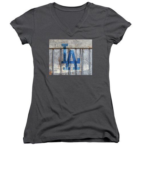 La Dodgers Women's V-Neck