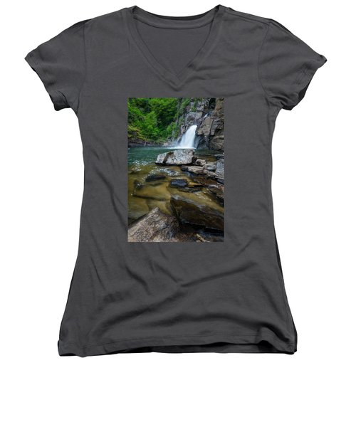 Linville Gorge - Waterfall Women's V-Neck
