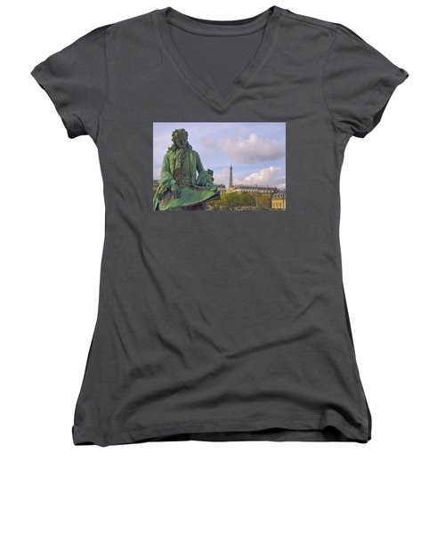 Paris View #4 Women's V-Neck