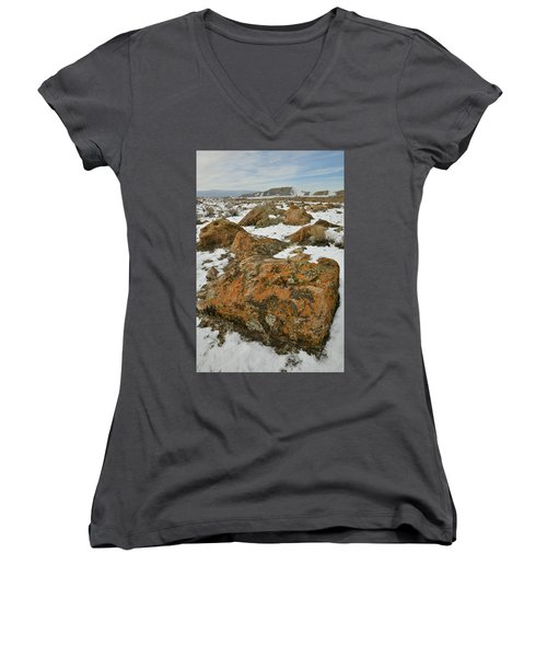 The Many Colors Of The Book Cliffs Women's V-Neck