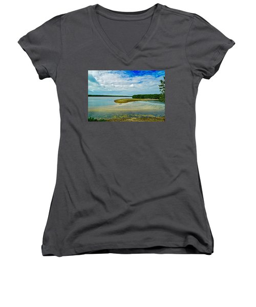 Wildlife Refuge On Sanibel Island Women's V-Neck