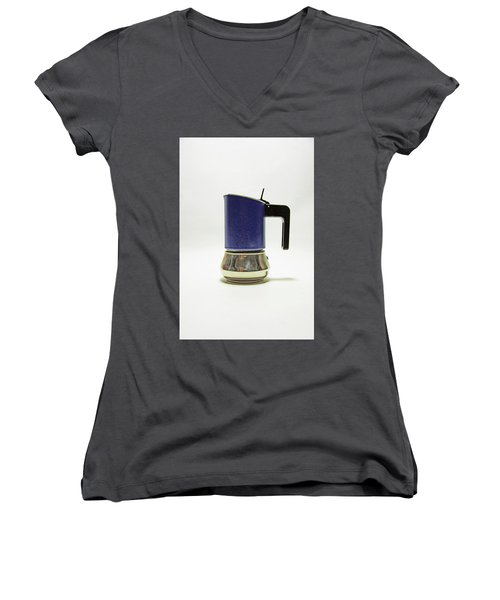 10-05-19 Studio. Blue Cafetiere Women's V-Neck