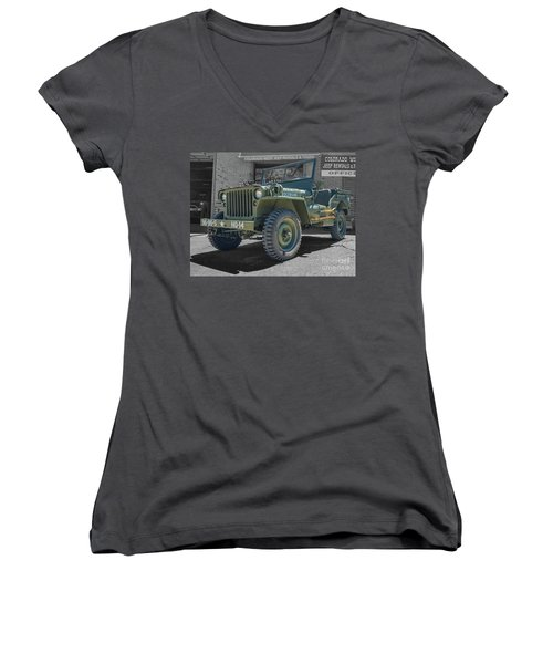 1942 Willys Gpw Women's V-Neck