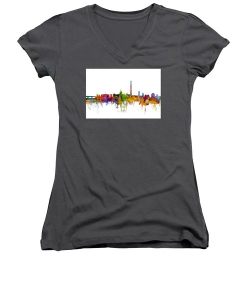 Washington Dc Skyline Women's V-Neck