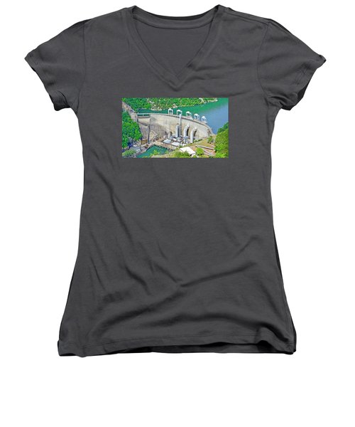 Smith Mountain Lake Dam Women's V-Neck