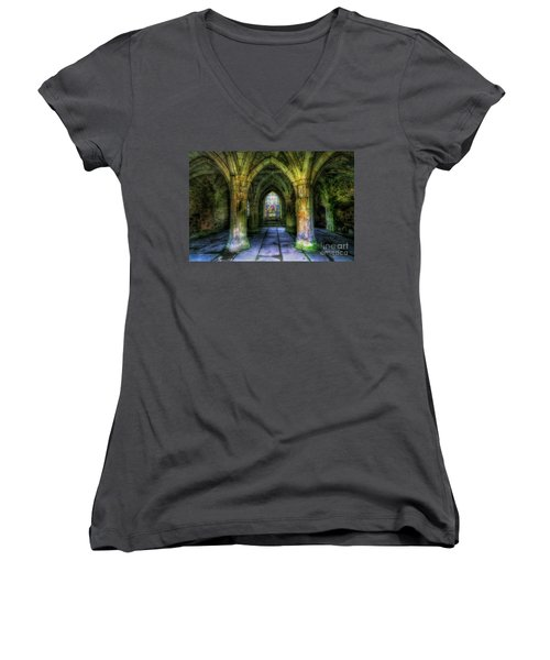 Valle Crucis Abbey Women's V-Neck