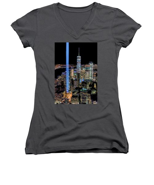 911 Lights Women's V-Neck