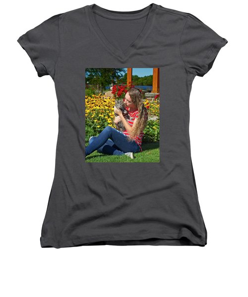 9A Women's V-Neck (Athletic Fit)