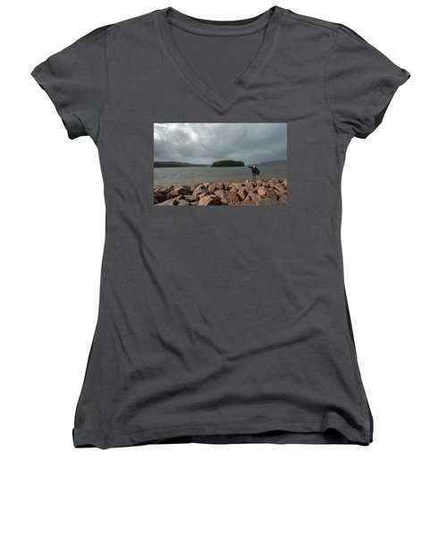 A Charming Little Girl In The Isle Of Skye 1 Women's V-Neck