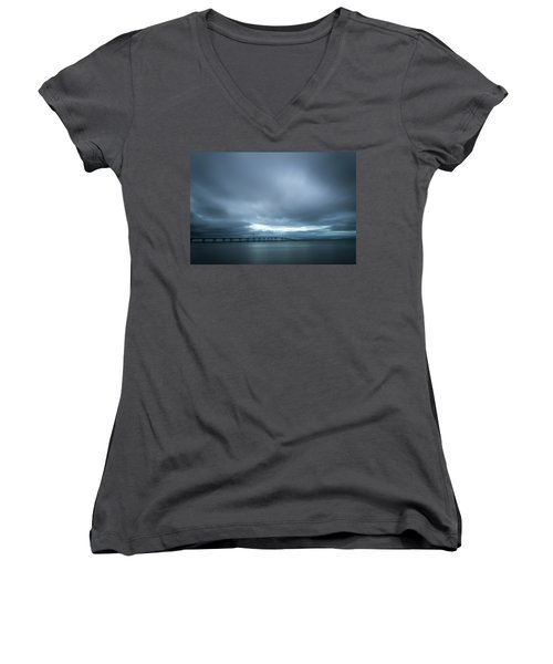A Hole In The Sky Women's V-Neck