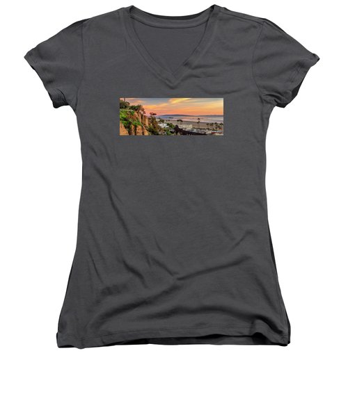 A Nice Evening In The Park - Panorama Women's V-Neck