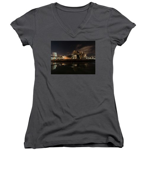 Women's V-Neck featuring the photograph A Piece Of Another World by Alex Lapidus