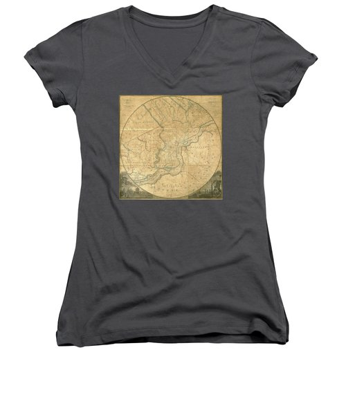 A Plan Of The City Of Philadelphia And Environs, 1808-1811 Women's V-Neck