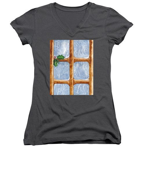 A Visit From Jack Frost Women's V-Neck