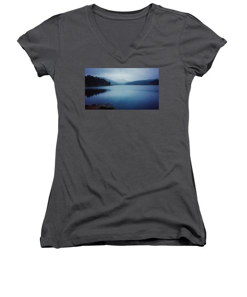Women's V-Neck featuring the photograph A Washed Landscape by Dan Miller